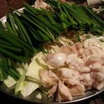 龍 - モツ鍋は、3種類の汁から選べます