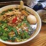らーめん侘助 - 担々麺 メンマ増し+味玉(850+100×2)