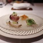 かわ村 - 前菜 鮮魚の前菜盛り合わせ その日の4種☆
