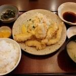 Bungochaya - とり天定食【2014-12】