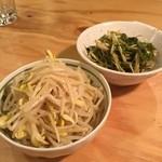 だるま食堂 - もやしと水菜のナムル