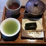 御抹茶処 とどう庵 - お煎茶(茶ようかん付) 600円