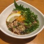 炭焼工房禅 - 料理写真:鶏のユッケ_2014年12月