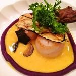 ラピス - 料理写真:ホタテ貝のポワレ・トリュフ添え