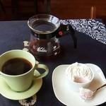 ファンケー - 料理写真:美味しいあっさりしたコーヒーと芋ようかん♡