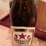 立ち呑み処なかや - 赤星ビール 2014.12