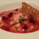 Kitanokurabu - 蟹と九条葱のサラダ、ビーツのジュレと共に
