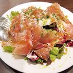大扇食堂 - 気まぐれサラダ 700円。(2014.11月)