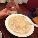 福麟楼 - カニあんかけ炒飯780円、これもかなりのボリューム。そして、美味い(≧∇≦)