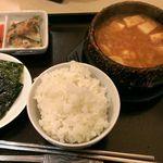 33781902 - スン豆腐チゲセット@880円2014.12
