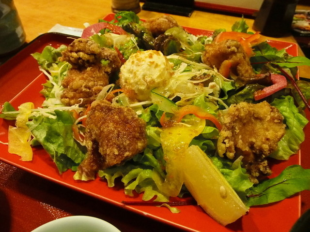 宿下吉庵 - サラダ大盛りで野菜を堪能