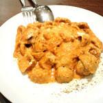 大扇食堂 - グラハム粉のオレキエッテ豚肉のラグークリームソース 1700円(2014.11月)