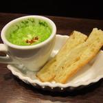 ナガハマコーヒー - 前菜的なパンとスープ