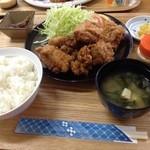 とけい台食堂 - ザンギ定食750円