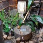 浅草一文 - 店頭の手水鉢