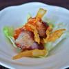 ストリングスホテル東京インターコンチネンタル - 料理写真:五香粉香るチャーシューのサラダ、豆板醤と共に。合わせるレタスが少な過ぎでした^_^;
