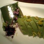 Chanko Dining 若 - アロエとアボカドのお造り 二種盛り合わせ