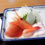 弥次喜多 - 魚河岸定食に付いてきた刺身