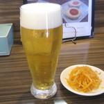 33807358 - グラス生ビールとお通し
