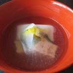 33807608 - お椀薄氷仕立て・こも豆腐・鱈の白子