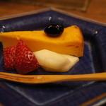 わら家 - わら家の5000円コース。デザート:かぼちゃのチーズケーキ(14.12)