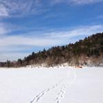 33813090 - オーベルジュの目の前  氷結したチミケップ湖