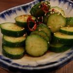 博多もつ鍋 はらへった - きゅうりの一番うまか食べ方(330円)