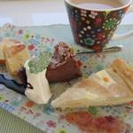 3rd フロア - イチジクのパウンドケーキ、ガトーショコラ、追分梨のタルト