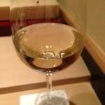 すし家 - H26.12 アルザス リースリング グラスで