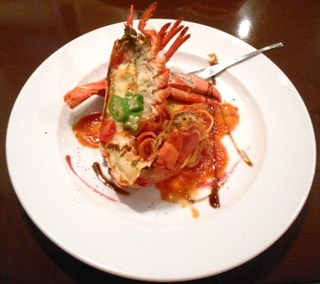阪南洋風食堂クゥクゥ - 特別フルコース 魚料理 オマールと帆立と海老