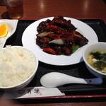 健康中華庵 青蓮 - 黒酢の酢豚