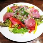 コロッセオ中目黒 - ブリのカルパッチョ サラダ仕立て