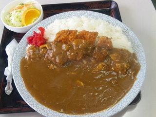 ドライブイン藤原駅 - カツカレー(大盛)