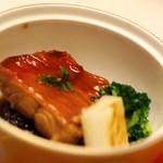 望水 - 金目煮付けと黒米リゾット、焼き葱、野菜