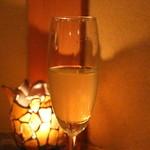 望水 - スパークリングワインをいただきました