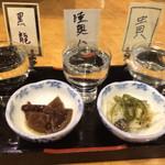竹乃家 - 料理写真:利き酒セット!