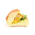 boulangerie ASH - かぼちゃサラダとくるみのブリオッシュサンドの断面 '14 12月中旬