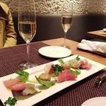 Spuntino - 前菜のカルパッチョ