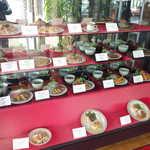 メイソオ - 食品サンプルの置かれた、入口の雰囲気も「古き良き喫茶店」