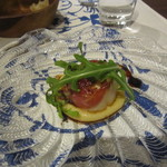 イタリアーノ プント ワイン&幸 - 「ホタテのソテー ヒヨコマメのピュレ」
