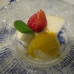 イタリアーノ プント ワイン&幸 - デザート:「ジェラート パッションフルーツソース」