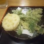 33842823 - 野菜天_レンコンと春菊