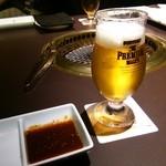 33845455 - 生ビール プレミアムモルツで乾杯 凄旨セット待ち
