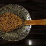 33850682 - そばの実と西京味噌の炙りもの