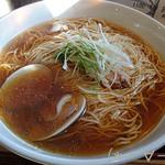 33853074 - [超くろ川祭2014]地鶏と蛤のらーめん(800円)