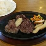 レストラン海洋 - リブステーキ 600円