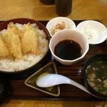 レストラン海洋 - きす天丼 600円