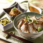 新潟 食楽園 - 真鯛の炙り丼