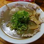 天骨庵 慶心 - 天骨麺(肉増し・玉子)1000円