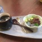 カフェギャラリー柚 - デザートのあんみつ